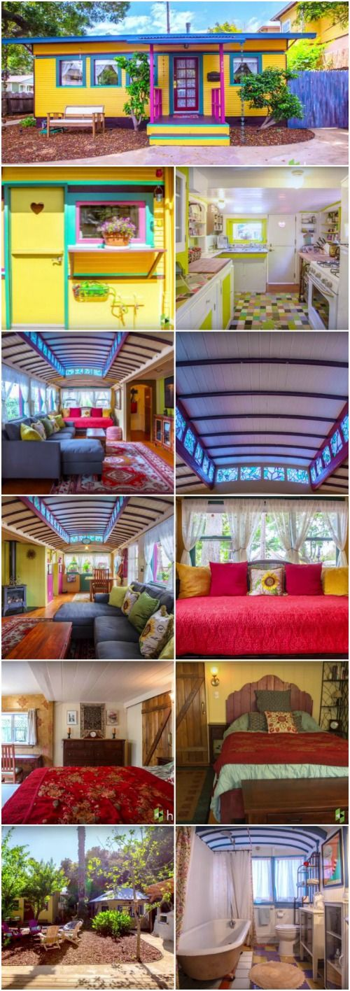 Santa Cruz Grandparents Make an Eclectic Home out of Two Streetcars - Gerhard and Mary Ringel are a pair of grandparents from Santa Cruz, California who decided it was time to build their retirement home but they didn't want just any old house, they wanted it to be as unique as they are.