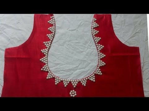 how to make मटका गला blouse back neck design with मोती cutting and stitching - YouTube