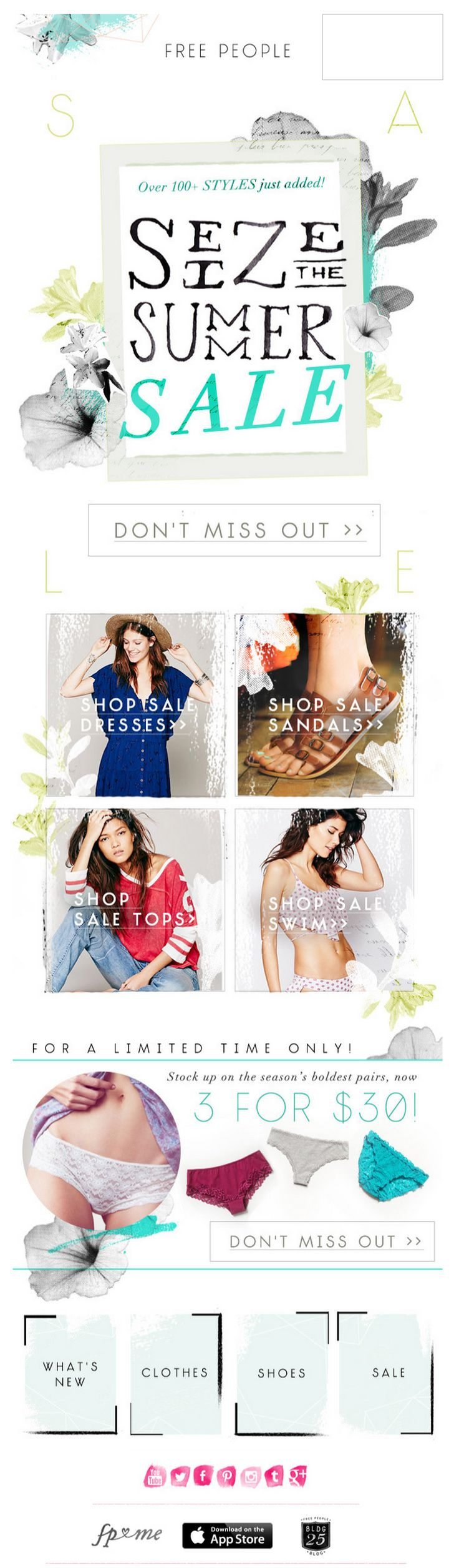 Free People email 2014