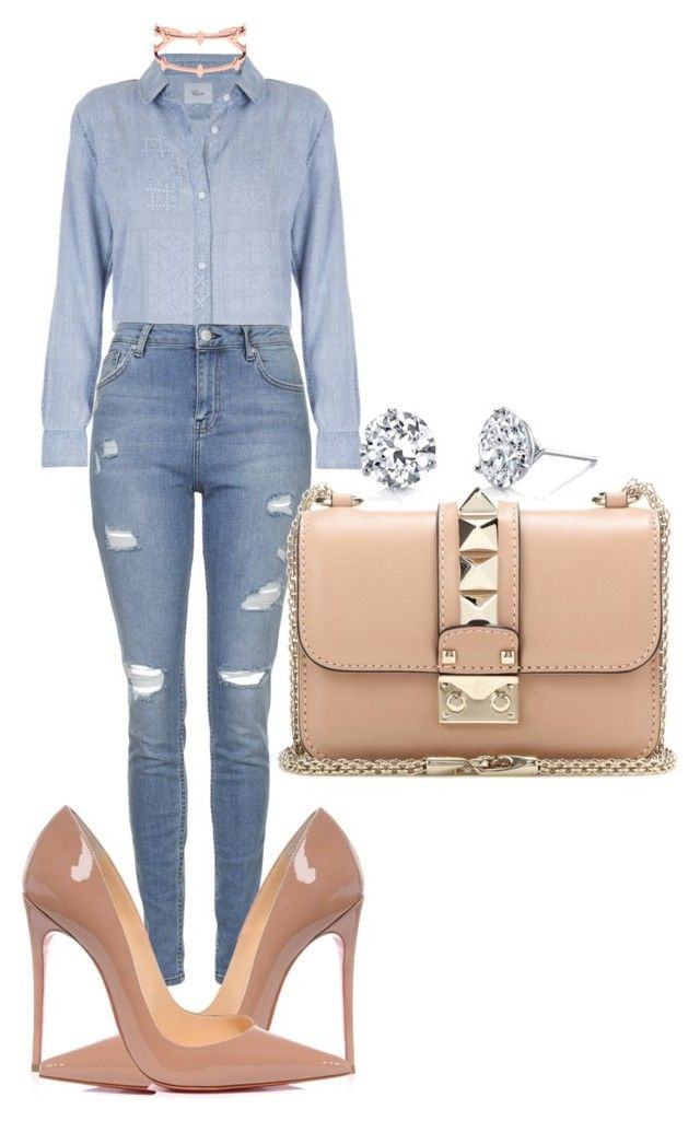 Untitled #502 by rhiannonkennedy on Polyvore featuring polyvore fashion style Topshop Christian Louboutin Valentino Harry Kotlar clothing