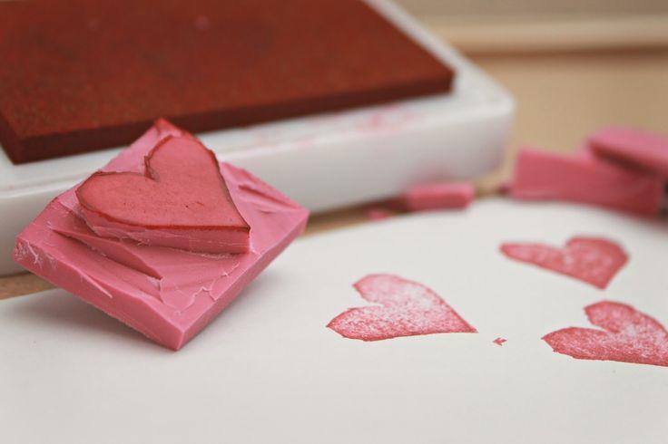 Stempel selber machen Herz