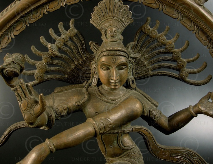Shiva Nataraja piétinant le gnome de l'Ignorance.