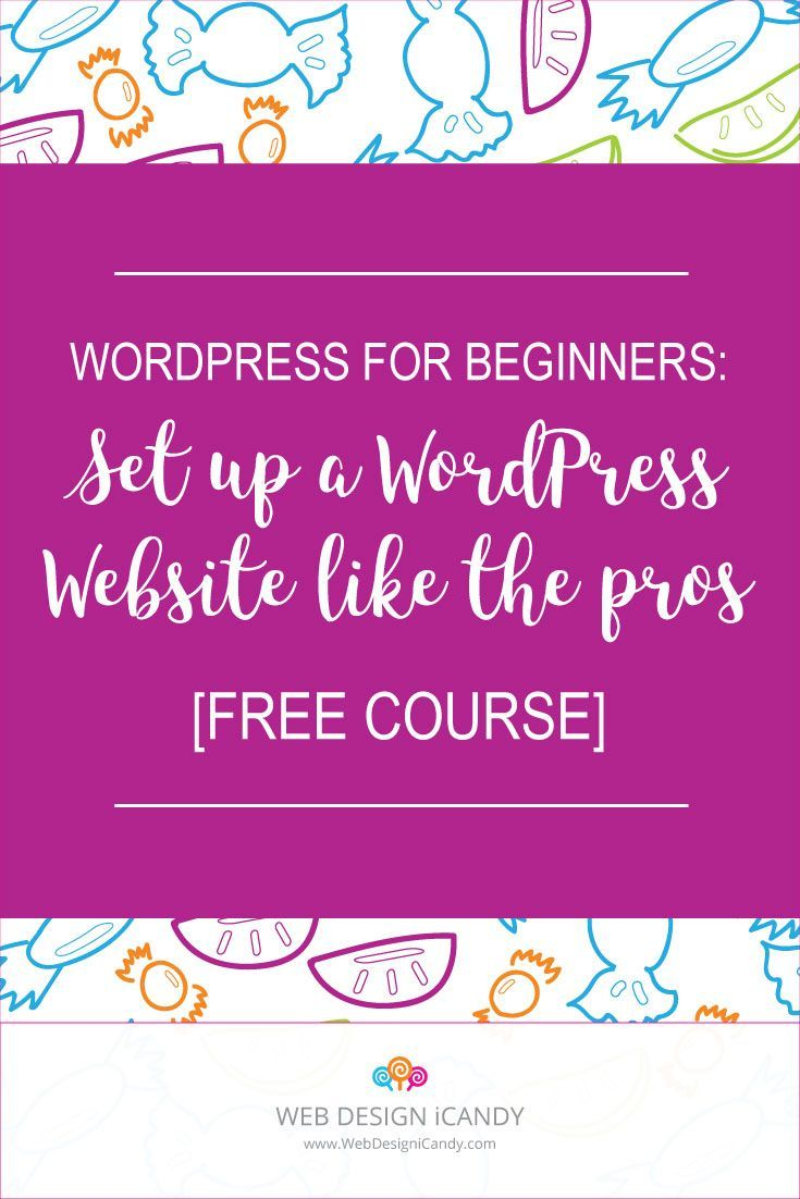 Did you know that you can build your own WordPress website without any coding experience? WordPress for Beginners, is a 5-day WordPress course that teaches you how to set up your WordPress website like the pros! It includes step-by-step instructions on setting hosting, domain and installing WordPress. It also walks you through how to pick the perfect theme! - http://webdesignicandy.com/free-course/