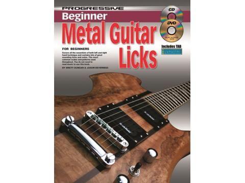 Just arrived new Progressive Beginner Metal Guitar Licks Book, CD & DVD - BC Wholesalers