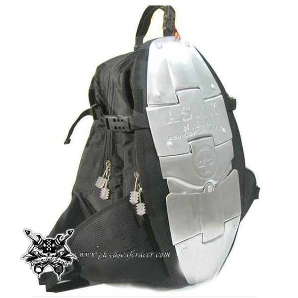 65,75€ - ENVÍO GRATIS - Mochila para Moto con Protección Cervical y Espaldera de Aluminio Color Negro