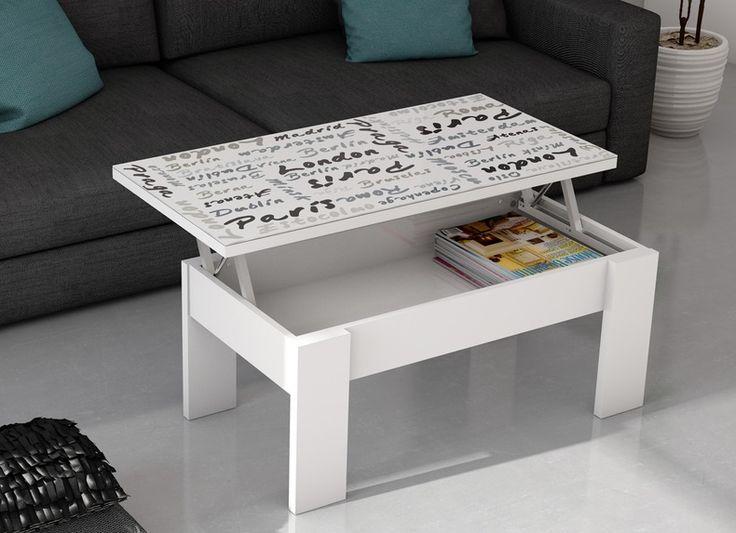 Mesa de centro alpha around europe elevable acabado - Modelos de mesa de centro ...