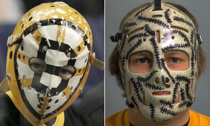 The many masks of Gerry Cheevers.
