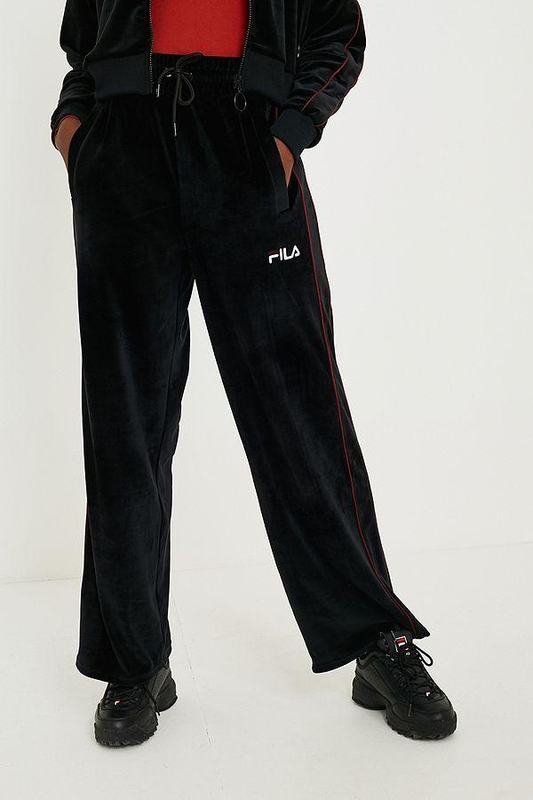 0361c80ad981 FILA Patti Black Velour Long-Sleeve Top in 2019 | wish list babyy ...