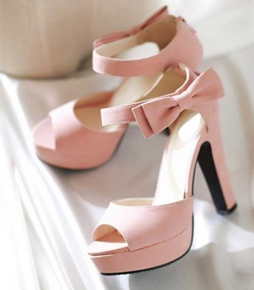 Pink Platform Heel Shoes
