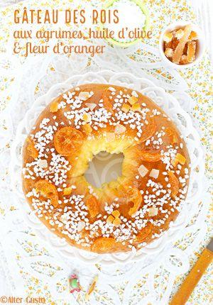 Le gâteau des rois 2018, le voilà ! une version tout à fait à mon goût ... Il est léger, savoureux, moelleux et très provençal.