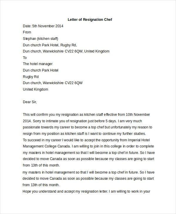Resignation Letter Kitchen Understanding The Background Of Resignation Letter Kitchen Resignation Letter Lettering Resignation