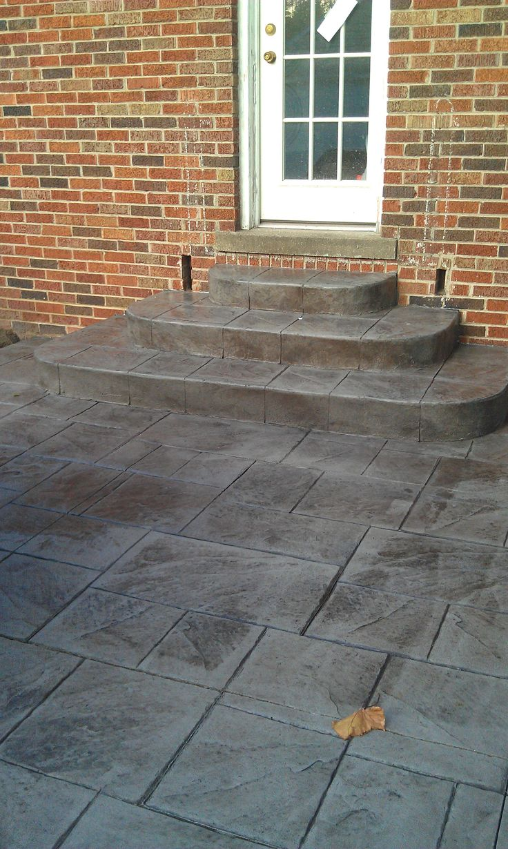 Patio Designs Concrete | STAMPED CONCRETE PATIO DESIGN IDEAS IN CLINTON  TWP, MICHIGAN. Stamped Concrete CostStain ...