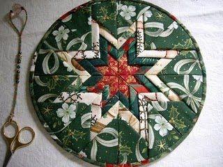Folded Star or Somerset Patchwork Trivet Free Tutorial by Jennifer Richards of Bronze Wombat Blog