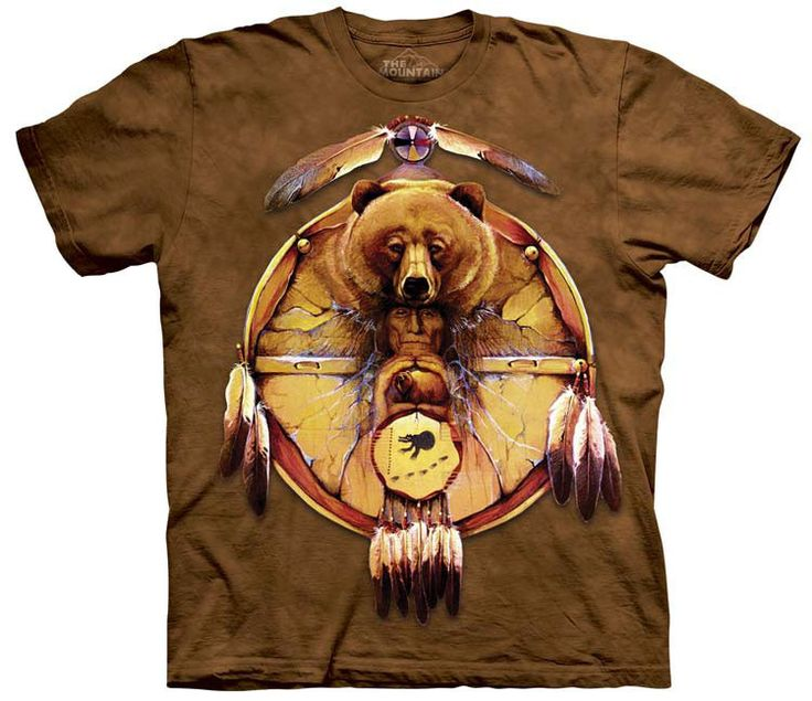 Native American T-Shirt | Bear Shield Adult