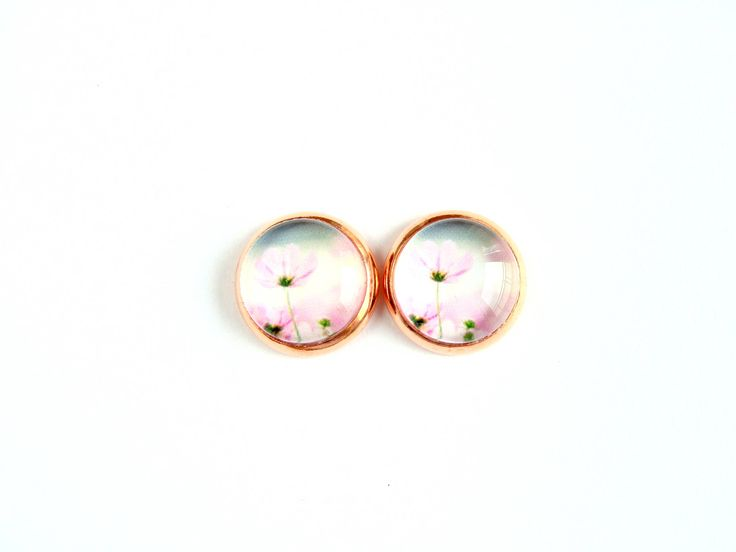 Flowers #9 Stud Earrings by CarolinePrecjoza on Etsy