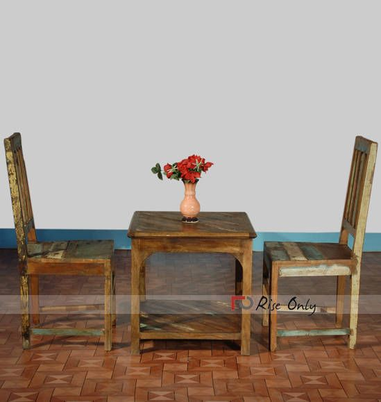 Indian hand made reclaimed wood center table set with 2 chairs made by  indian wholesale furniture manufacturer riseonly com  vintagefurniture. 37 best Reclaimed Wood Furniture images on Pinterest   Recycled