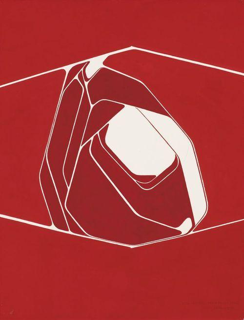 Pablo Palazuelo (Spanish, 1916-2007), Ton coeur, 1970. Gouache and graphite on paper, 66 x 50 cm