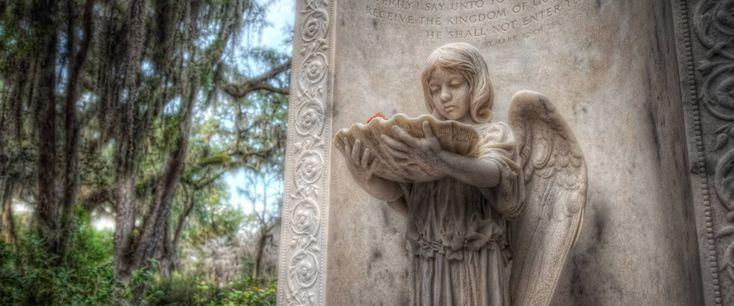 Statues at Bonaventure Cemetery