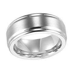 Triton Men's 9.0mm Comfort Fit Polished Stainless Steel Wedding Band - View All Rings - Zales