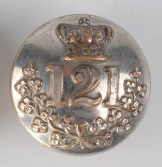 121st Foot Irish Militia button