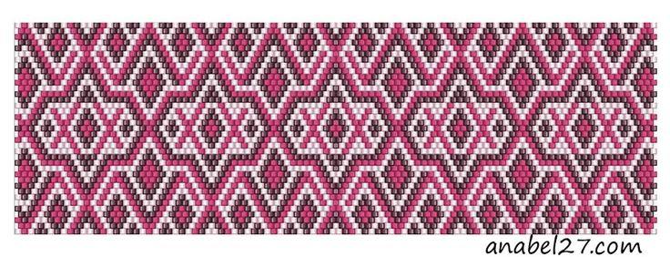 scheme bracelet beaded mosaic
