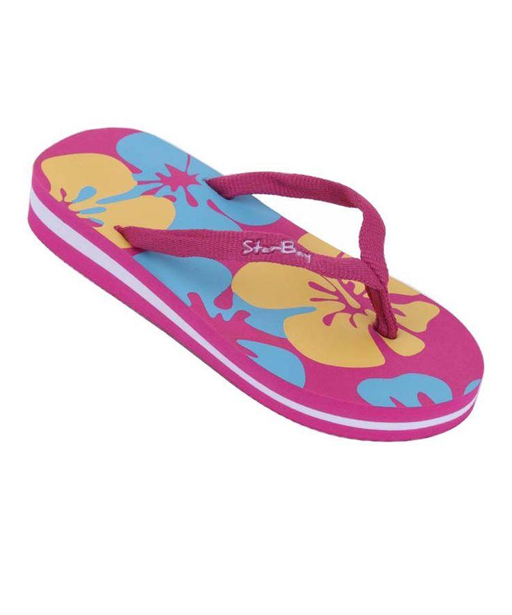 Fuchsia Hawaiian Flip-Flop - Girls