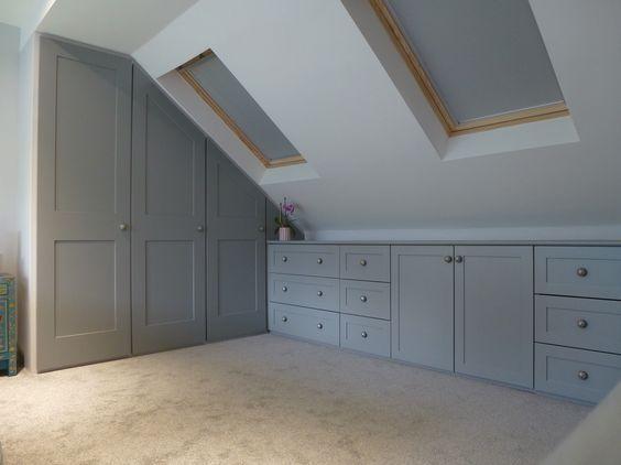 Shaker style grey storage