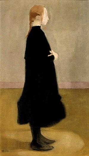 "Hélène Schjerfbeck, ""School Girl II (Girl in Black), 1908"""