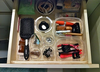 old plastic containers for bathroom drawer storage. | MADE IT! | Pinterest | Bathroom drawers, Drawers and Bathroom