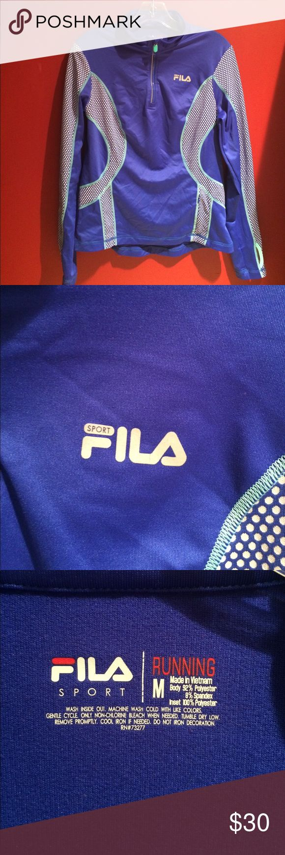 FILS sports running long sleeve 😍😍 Omg so comfortable size medium FILS sport running top so in right now color is amazing love it 😍😍😍great for running workouts or walk in the park😍😍 FILS Tops