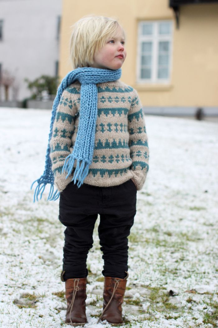 I'm not a fan of the whole kids fashion thing going on but I want all my kids to have cozy homemade sweaters like this.