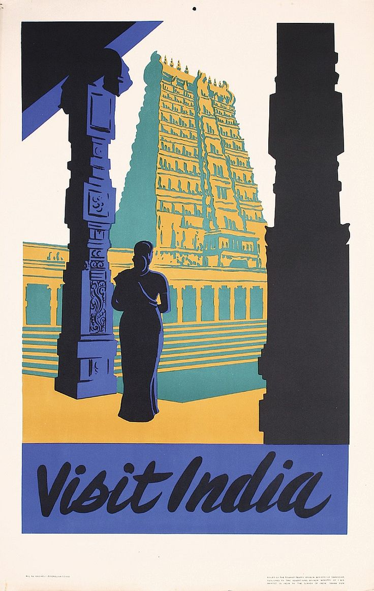 1950s india travel poster estimated price 200 360 description anonymous india