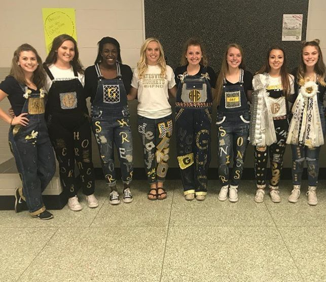 Seniors took old thrift shop clothes and made them in to homecoming outfits