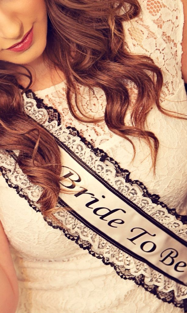 Bachelorette Sash - Bridal Shower Sash - Lace by LaurenLashDesignsLLC on Etsy