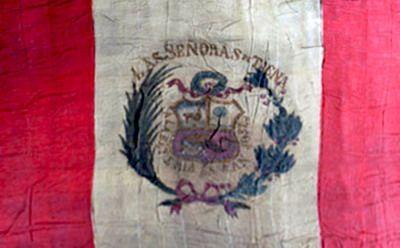 Estandarte del fuerte San José, tomado en la Toma del Morro de Arica, el 7 de junio de 1880, en la guerra del Pacífico.