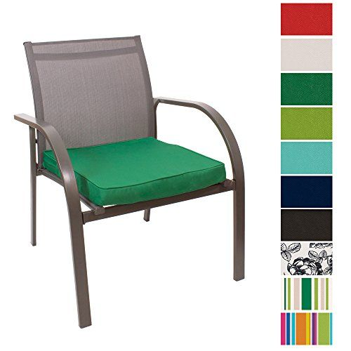 From 10.99 Outdoor Seat Pad Cushions - Fibre Filled Cushions For Chairs - Colourful Water Resistant Garden Chair Pads By Pebble (green)