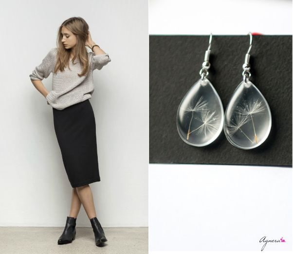 """Tuesday may be skirt and wish day – I recommend pencil skirt and """"make a wish"""" drop earrings #tuesday #wear #fashion #pencil #skirt #midi #earrings #wish #jelwery #daily"""