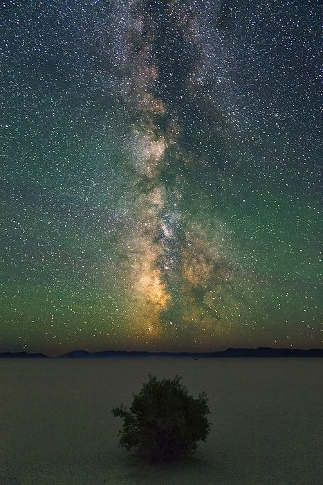 Milky Way Over Landscape At Night   Harney County   Oregon   Photo By Gary Weathers