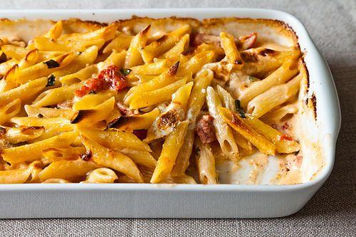 Al Forno's Penne with Tomato, Cream & Five Cheeses Comforters Food ...