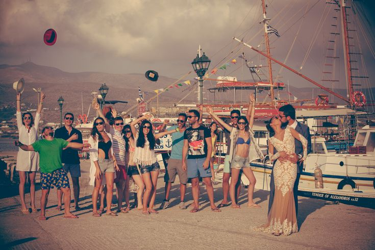after wedding shooting antiparos boat trip vasia stamatis greece sea funny photographer