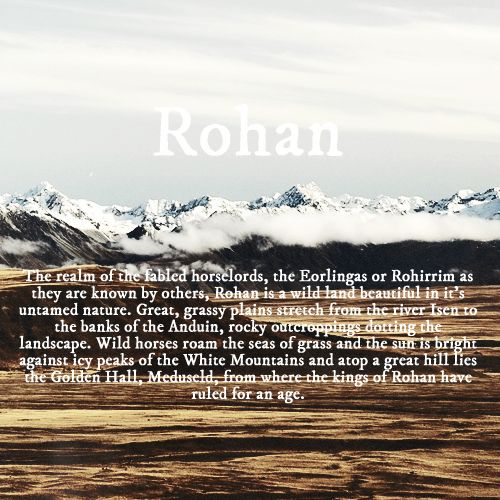 LotR 30 day challenge- #8 definitely Rohan..... I probably would feel more at home there. Though it is a fairly poor city.... Still I would want Rohan over Gondor