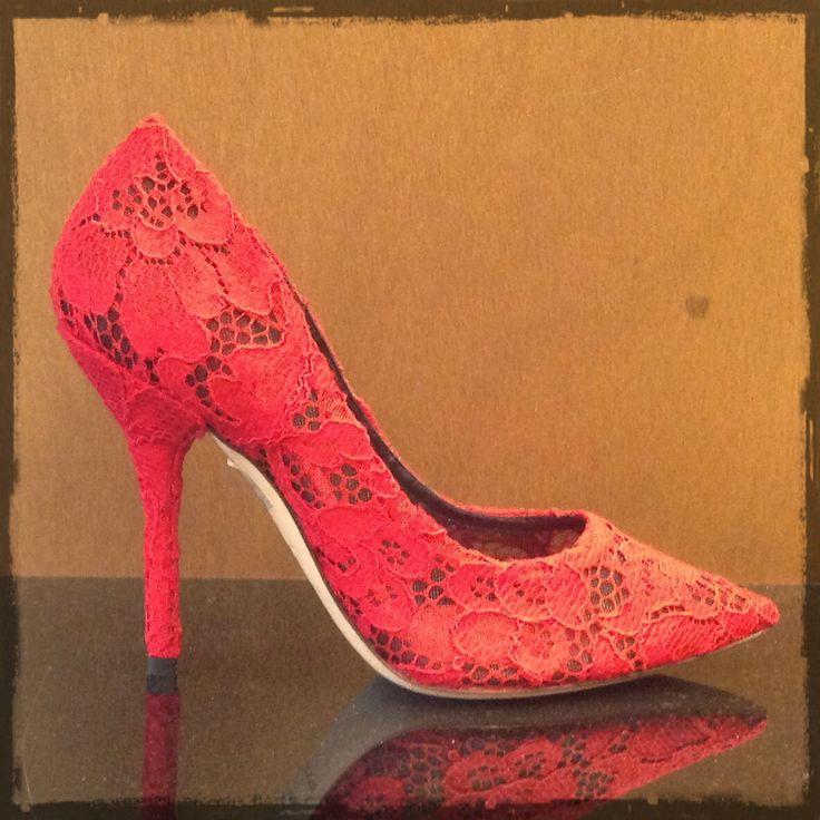 Dolce  Gabbana #decollette #lace #red #FolliFollie #collection