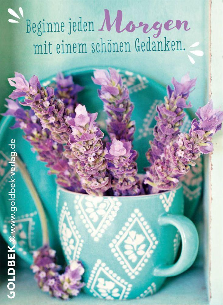 Postkarten - Vintage. Beginne jeden Morgen mit einem schönen Gedanken.