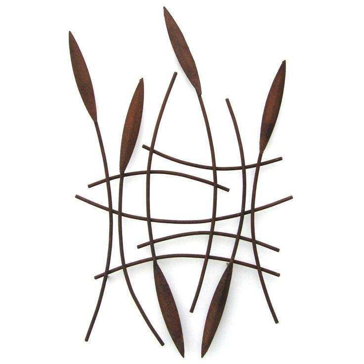 Metallic Evolution Outdoor Steel Willow Net Sculpture WNT-01, Artistic Artisan Metal Wall Art