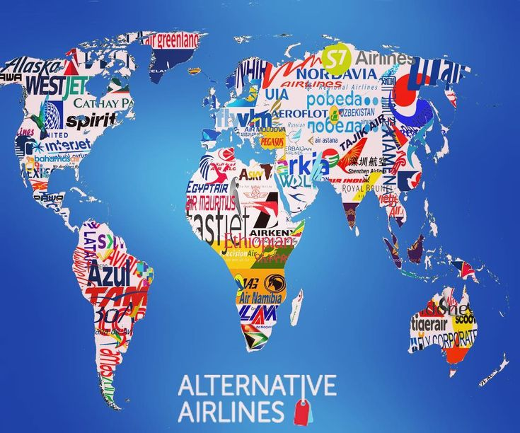 A map of a few of the wonderful airlines we ticket!   #map #infographic #travel  #airline #flight #worldmap