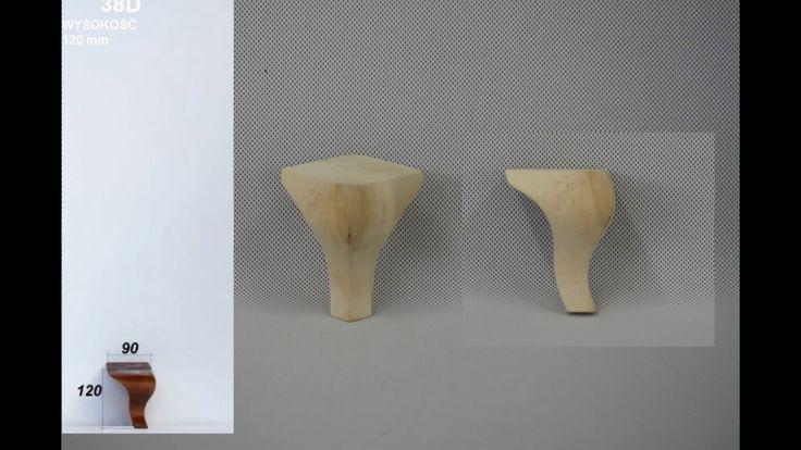 Almitex hurtownia tkanin Nogi drewniane do mebli
