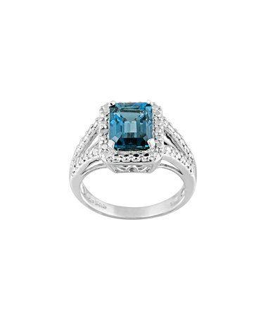 Look what I found on #zulily! London Blue Topaz & Diamond Ring #zulilyfinds