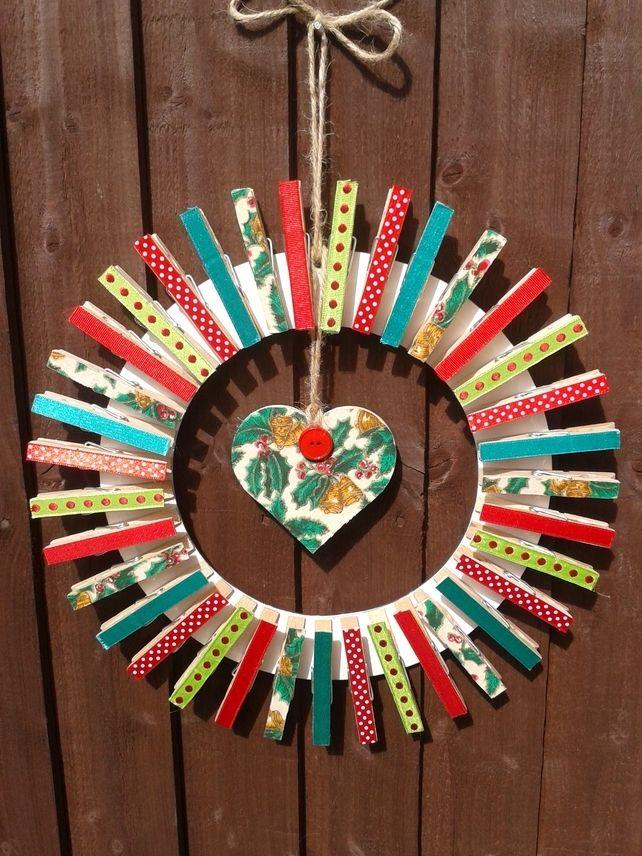 Christmas Card Peg Wreath £14.99