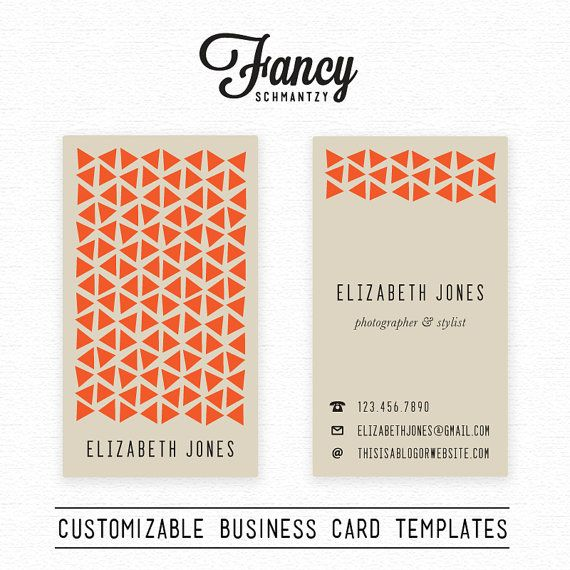 Love the idea of a business card that has the portrait orientation. So creative!