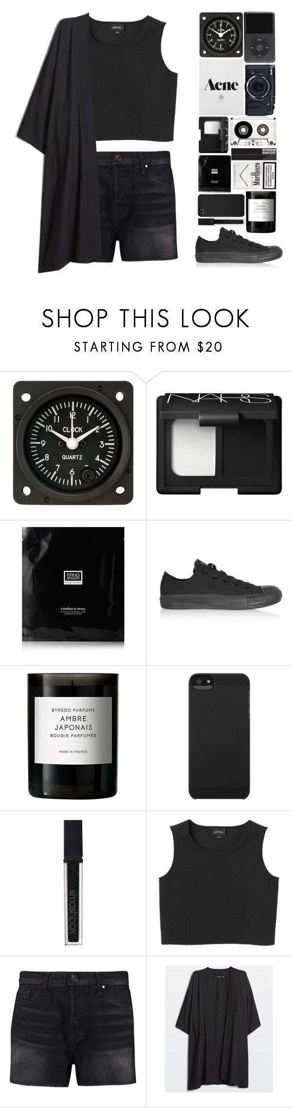 """""""In her eyes there's no lies,there's no question, she's not in a disguise"""" by onedirectiondress ❤ liked on Polyvore featuring Fujifilm, NARS Cosmetics, Erno Laszlo, Converse, Byredo, Incase, Smashbox, Monki and J Brand"""